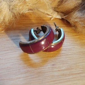 sterling purple African sugalite earrings